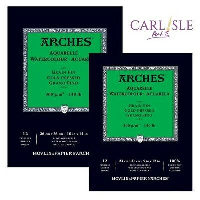 Arches Aquaelle Watercolour Pads - Cold Press - Choose Your Size