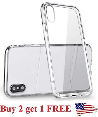 For Apple iPhone X XS max xr Case Silicone Clear Bumper Gel iPhone 10 10S Cover