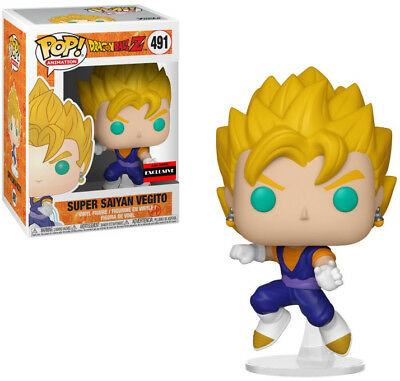 SUPER SAIYAN VEGITO FUNKO POP AAA ANIME EXCLUSIVE #491 w/Pop Protector