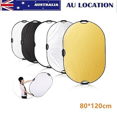 Selens 5 in 1 Folding Studio Photo Light Oval Reflector 80x120cm for Photography