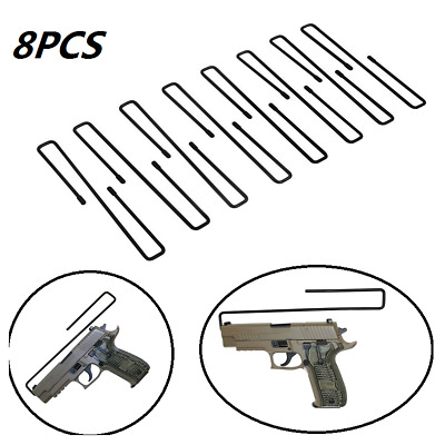 Gun Safety Pack Of 8pcs Pistolhandgun Rack Storage Solutions