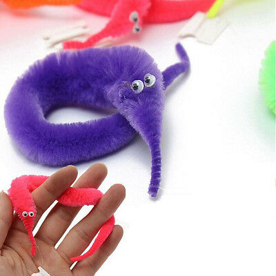 10Pcs/Set Magic Twisty Worm Slideyz Squirmles Fuzzy And Soft Cute Toys Cool Game