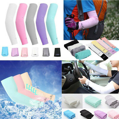 1Pair Cooling Sun Protection UV Arm Sport Sleeves Cover Golf  Athletic