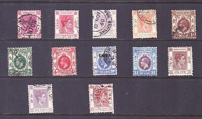 Hong Kong stamps - 12 Very old Used