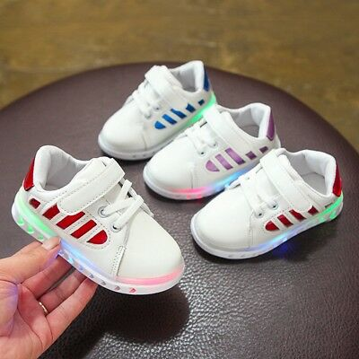 Toddler Baby Girl Boy LED Light Up Shoes Luminous Casual Sports Sneakers Shoes