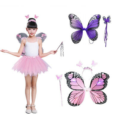 Cosplay Costume Fairy Costume Halloween Gift Butterfly Wing Headband Kids Toys