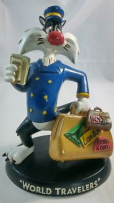 Warner Brothers Looney Tunes Sylvester World Travelers Statue Vintage 1994 Resin