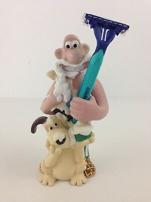 """Claymation Wallace & Gromit Shaver / Razor Toothbrush Holder 6 1/2"""" Bathroom"""
