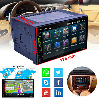 """2DIN 7"""" TFT Touch Screen Car MP5 Player Radio AM FM Android WIFI Bluetooth New"""