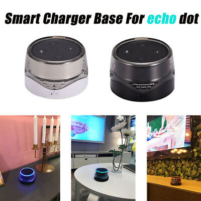 Smart Speaker Charging Dock Ladestation Charger Holder Base for Amazon Echo Dot