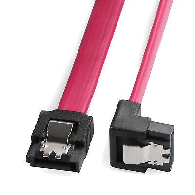 SATA Cable III 6Gbps Straight HDD SDD Data Cable with Locking Latch 18 Inch
