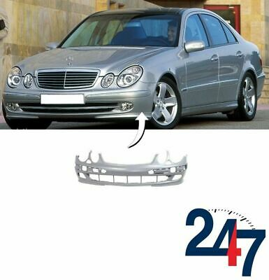 New Mercedes Mb W211 02-06 Avantgarde Front Bumper With Headlight Washer Holes