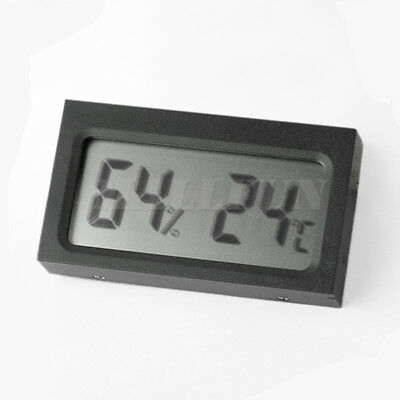 Mini LCD Car Auto Digital Panel Temperature Thermometer Hygrometer Meter Black