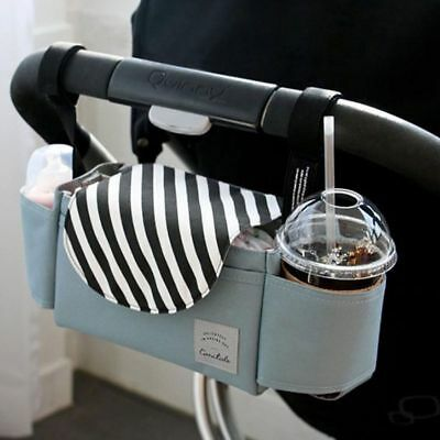 Baby Stroller Pram Pushchair Organizer Mummy Bag Storage Buggy Cup Bottle Holder