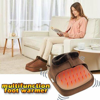 Electric Multifunction Foot Warmer Relaxing Heated Slippers Winter Massagers RE