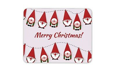 Merry Christmas Elf Decorations Mouse Mat Pad - Festive Fun Computer Gift #14727
