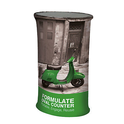Formulate Oval Counter - Fabric Display Stands