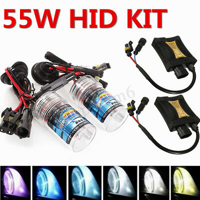 2x 55W HID KIT Conversion Xenon Ballast Bulb KIT Headligh H1 H3 H4 H7 H8 H9 H11