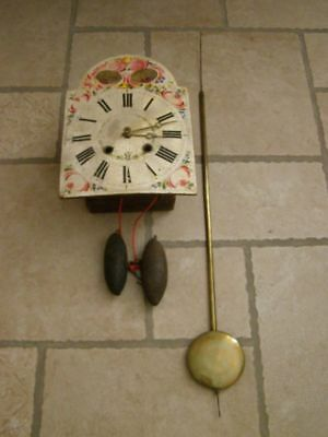 Old Black Forest movement with balance and 2 weights, late eighteenth
