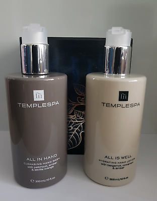 temples gift set 300ml all in hand 300ml all is well wash/lotion