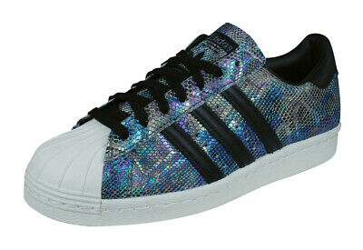 various colors ab952 236fa adidas Originals Superstar 80s Uomo Scarpe Ginnastica Pelle Nero  Pelle-Serpente