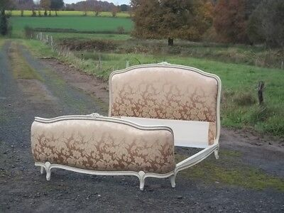 French Vintage  Double Louis Xv Revival Corbielle Bed Beautiful Quality