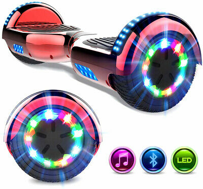 6,5'' Hoverboard Elettrico Self Balancing Scooter Bluetooth Overboard Motore Led