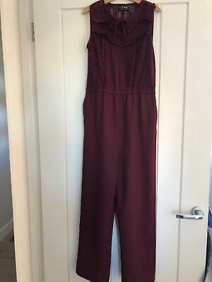 Next Girls Burgundy Jumpsuit Age 10 Years