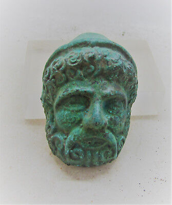 Circa 300-400Ad Roman Era Bronze Legionary Chariot Fitting Face