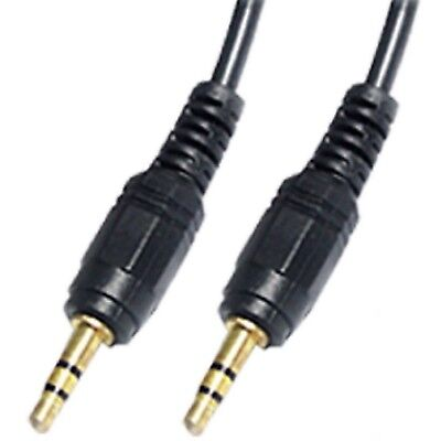 3.5mm Jack Plug Aux Audio Extension Cable Gold Lead For PC Car Speaker Headphone