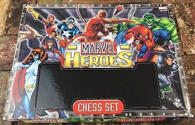 Rare Marvel Heroes Chess Set Featuring Hand Painted Figurines in Great Condition