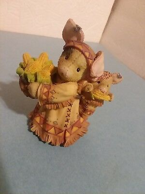 """TLP """"We're Gonna Eat Like Pigs!"""" Harvest Pigs with Corn Figurine /1996"""