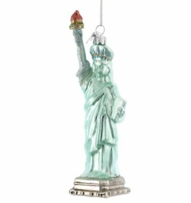 Statue of Liberty New York glass Christmas tree decoration ornament