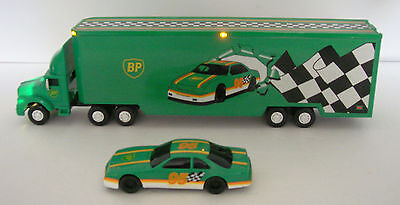 1995 BP Toy racing transport truck MINT-Great Christmas gift-100% eBay rating