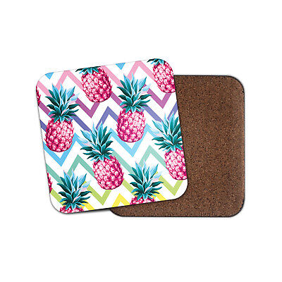 Funky Pink Pineapple Coaster - Tropical Fruit Summer Girls Holiday Gift #14859