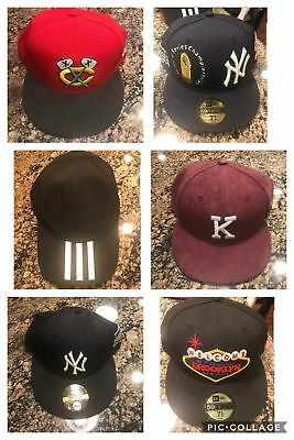 3fb0c73bce4 New Era Hats Yankees Blackhawks Fitted Snapback New Pre owned Kith Banned  Nike
