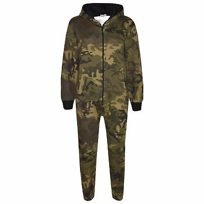 Kids Girls Boys Fleece Camouflage A2Z Onesie One Piece All In One Jumpsuit 7-13Y