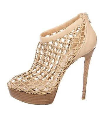 fc5455272c6f Very rare Christian Louboutin Coussin 140 beige ankle boots booties 39 UK 6  vgc