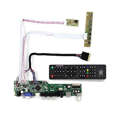 "TV56 HDMI VGA DVI LCD Controller kit 12.1/"" LTN121X1 1024*768 Panel Screen"