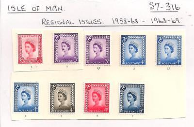 S7- 316.  9.Stamps.   Gt Britain     Isle of Man.   Regional Issue.