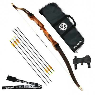 """Left Hand Armex Saxon Archery Recurve Take Down Complete Youth Bow 54/"""" 18 Lbs"""