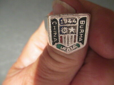 Wwii 1944 China India Burma U.s. Army Air Force Stl. Pilot's Ring -Flying Tiger