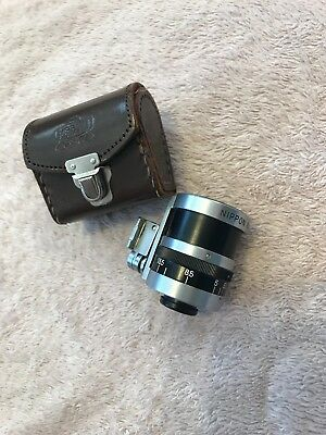 Nikon Nippon Kogaku External Zoom Viewfinder in leather case
