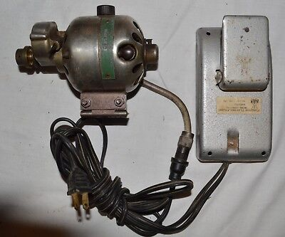 Watch / Clock / Jewelers Lathe Motor With Rheostat Foot Pedal Speed Control