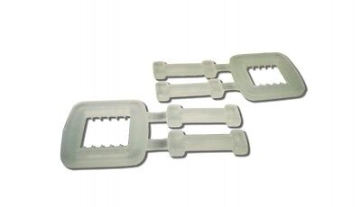 1000 x 12mm PLASTIC BUCKLES FOR HAND PALLET STRAPPING