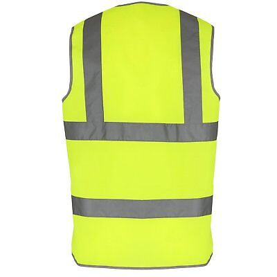Yellow Hi Vis High Viz Visibility Vest EN471