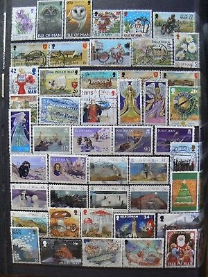 Collection Of Isle Of Man Iom Gb Stamps