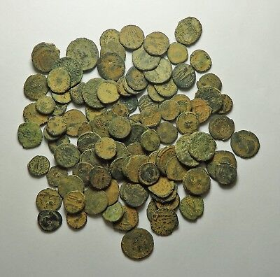100 Small As Found Low Grade Roman Bronze Coins (156H)