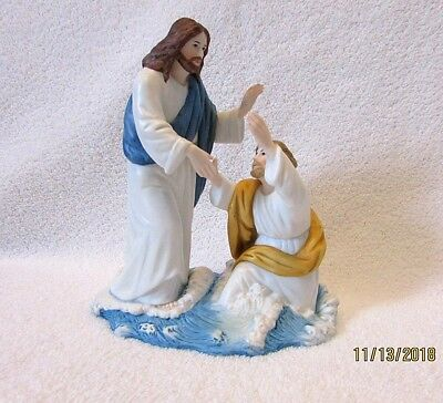 Home Interior 2002 Figurine LORD SAVE ME Greatest Stories Ever Told 14037-02 EX!