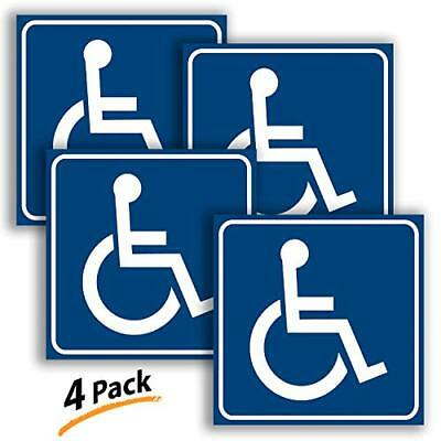 iSYFIX Handicap Official Blue and Logo Stickers - 4 Pack, 6x6 inch - Disable &